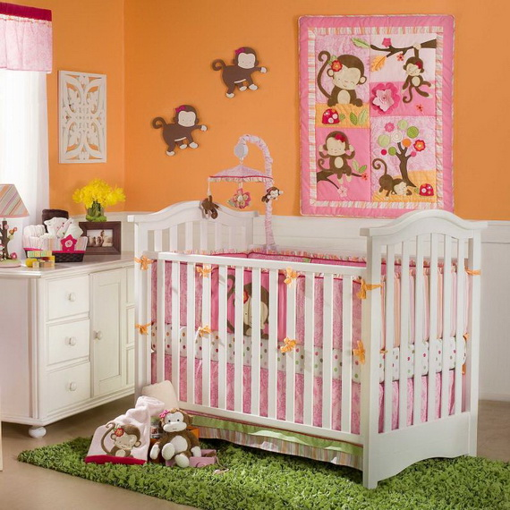 Monkey Baby Crib Bedding Theme and Design Ideas _05