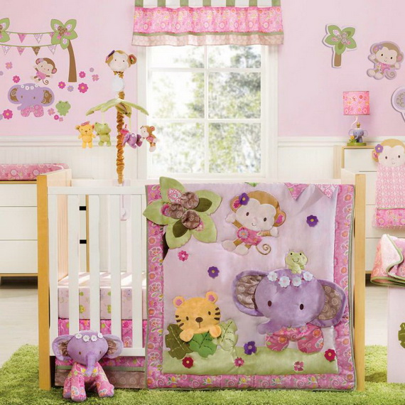Monkey Baby Crib Bedding Theme and Design Ideas _07
