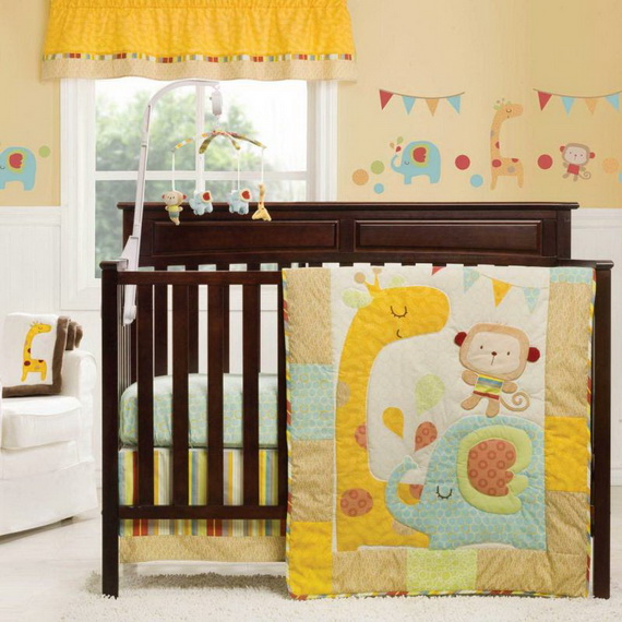 Monkey Baby Crib Bedding Theme and Design Ideas _08