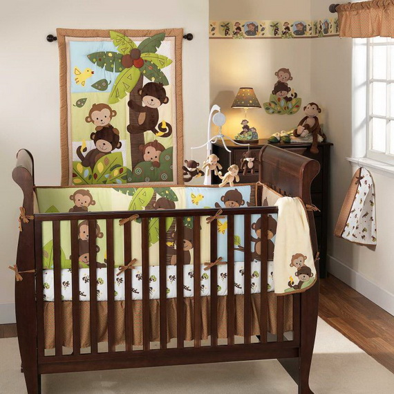 Monkey Baby Crib Bedding Theme and Design Ideas _10