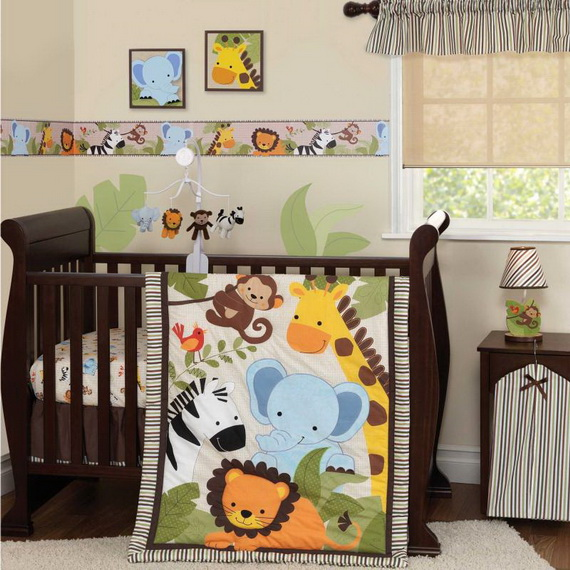 Monkey Baby Crib Bedding Theme and Design Ideas _11