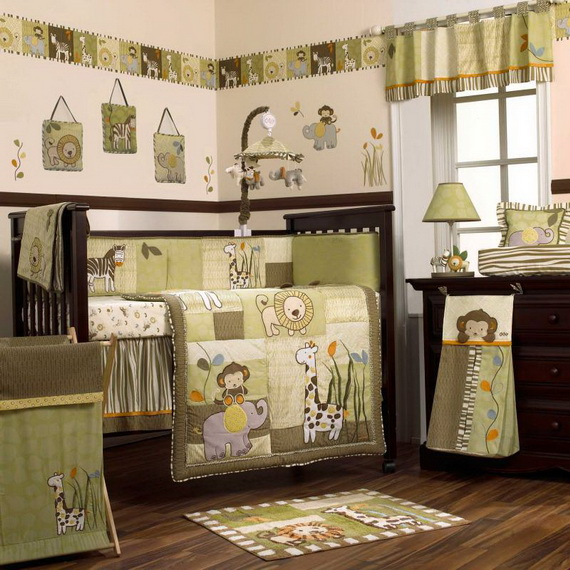Monkey Baby Crib Bedding Theme and Design Ideas _12