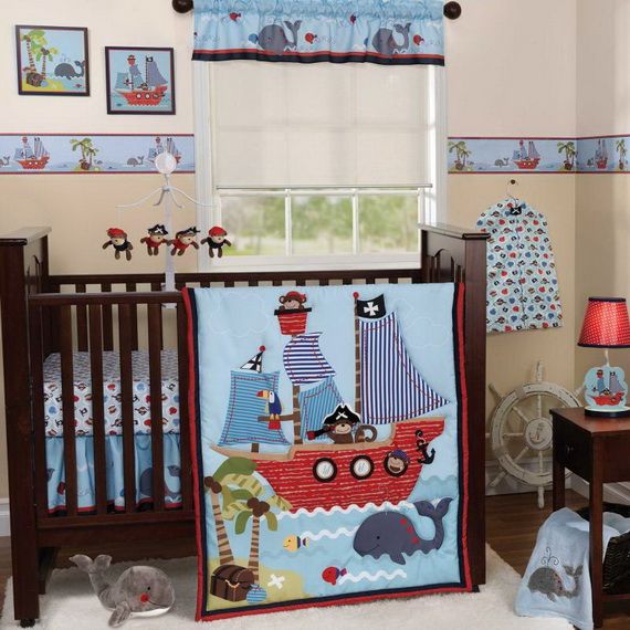 Monkey Baby Crib Bedding Theme and Design Ideas _13