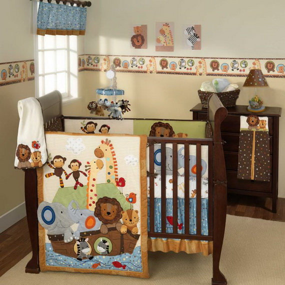 Monkey Baby Crib Bedding Theme and Design Ideas _16