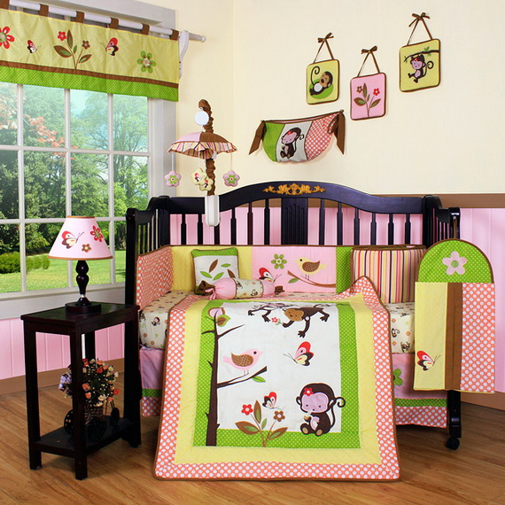 Monkey Baby Crib Bedding Theme and Design Ideas _20