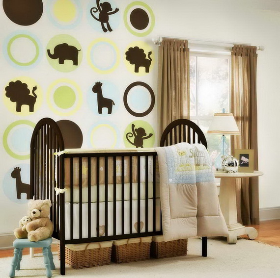 Monkey Baby Crib Bedding Theme and Design Ideas _22