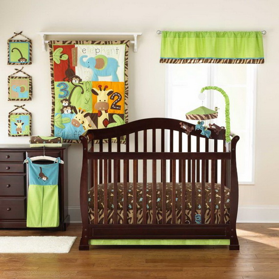 Monkey Baby Crib Bedding Theme and Design Ideas _25