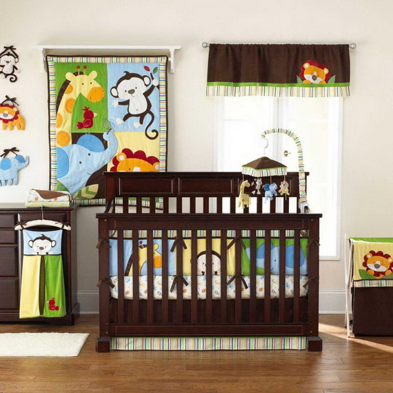 Monkey Baby Crib Bedding Theme and Design Ideas _26