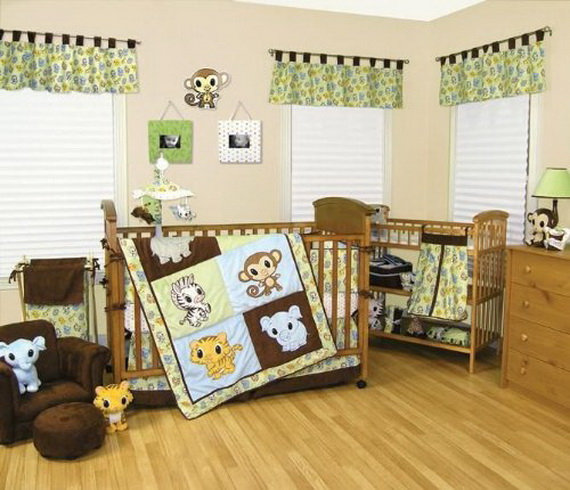 Monkey Baby Crib Bedding Theme and Design Ideas _29