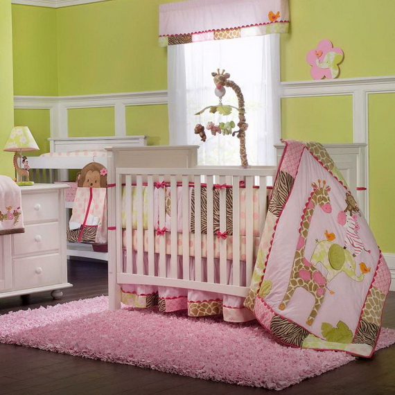 Monkey Baby Crib Bedding Theme and Design Ideas _36