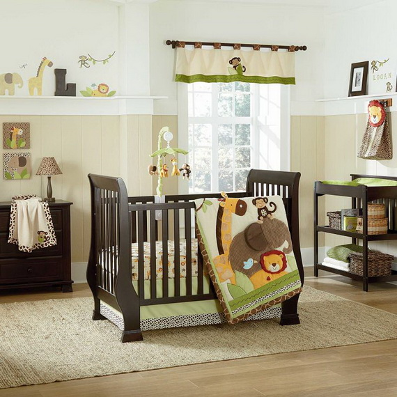 Monkey Baby Crib Bedding Theme and Design Ideas _44