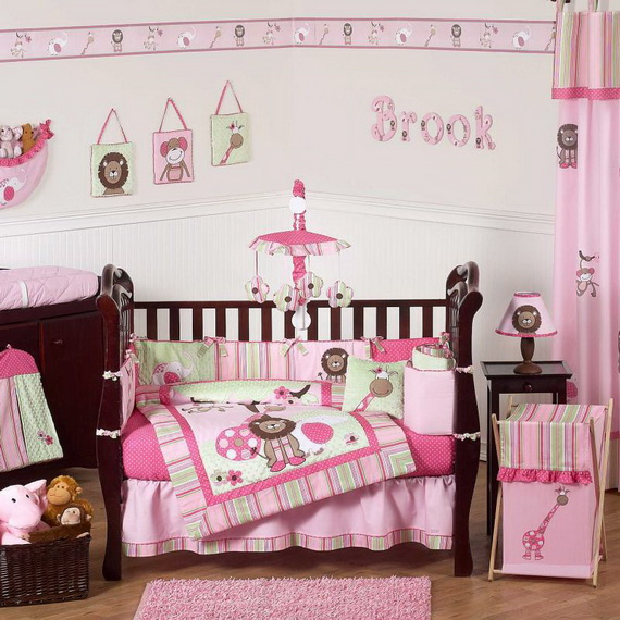 Monkey Baby Crib Bedding Theme and Design Ideas _45
