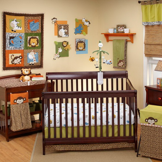 Monkey Baby Crib Bedding Theme and Design Ideas _48