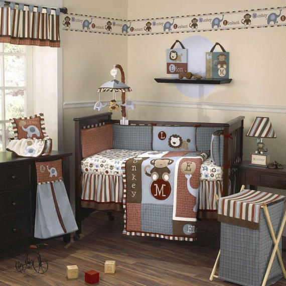 Monkey Baby Crib Bedding Theme and Design Ideas _49