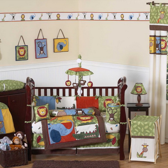 Monkey Baby Crib Bedding Theme and Design Ideas _53