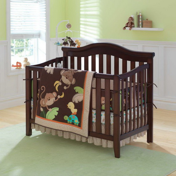 Monkey Baby Crib Bedding Theme and Design Ideas _54