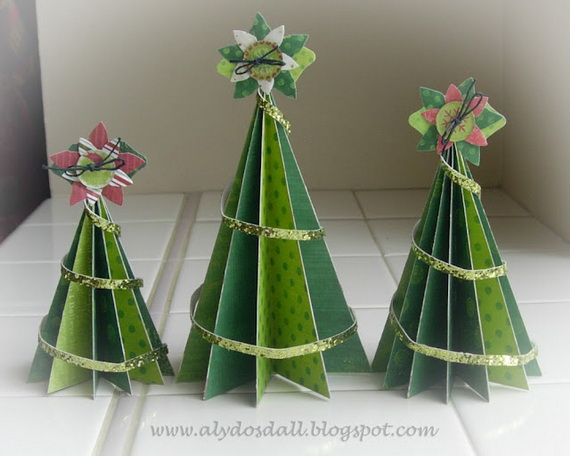 Pretty Paper Christmas Craft & Decoration Ideas_24