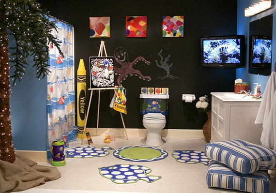 stylish bathroom design ideas for kids 2014_01