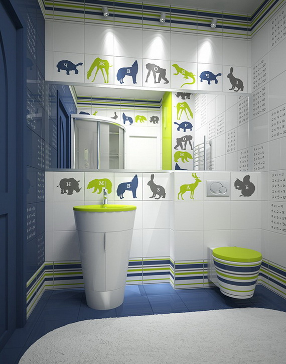 Stylish bathroom design ideas for kids 2014 family for Children bathroom ideas