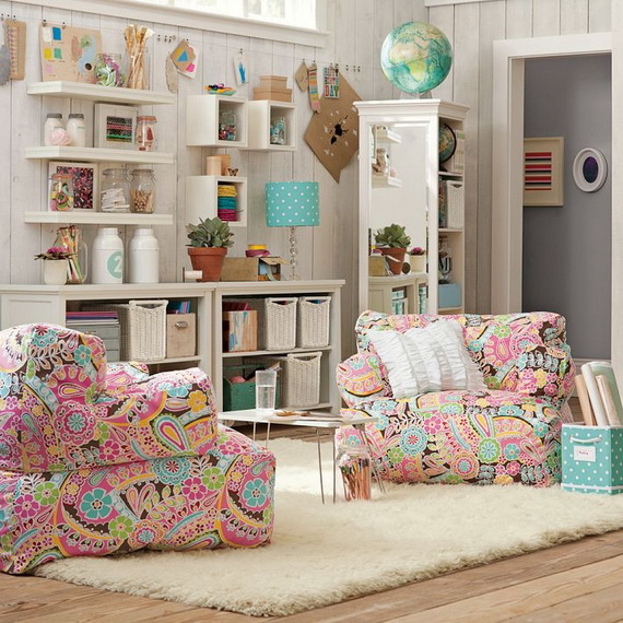 55 stylish teen bedroom design ideas family for Girly teenage bedroom designs
