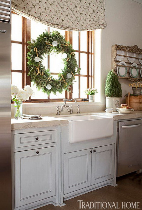 Top Christmas Decor Ideas For A Cozy Kitchen _42