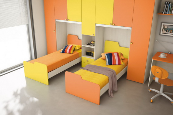30 Vibrant and Lively Twin/ Kids Bedroom Designs | Family Holiday