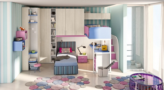 30 Vibrant and Lively Twin/ Kids Bedroom Designs - 9 - Pelfind