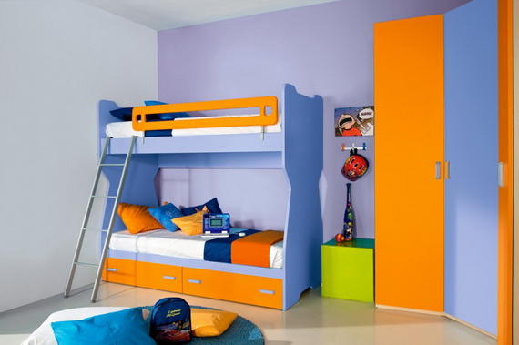 30 Vibrant and Lively Twin/ Kids Bedroom Designs - 19 - Pelfind