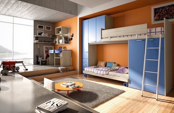 Vibrant and Lively Twin- Kids Bedroom Designs_12