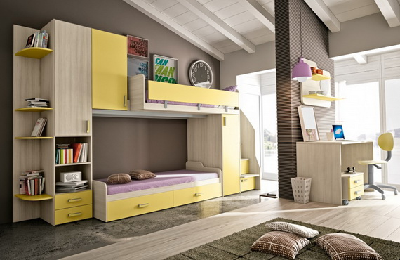 Vibrant and Lively Twin- Kids Bedroom Designs_13