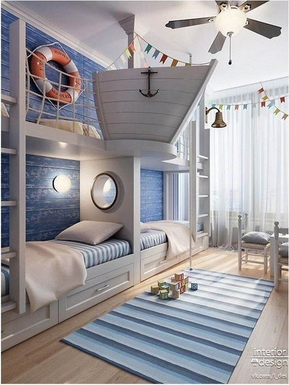 Vibrant and Lively Twin- Kids Bedroom Designs_15
