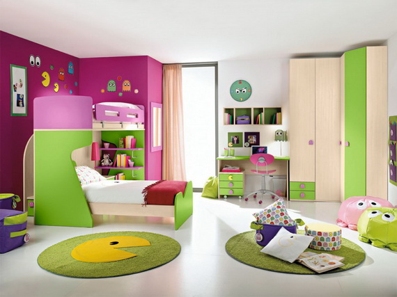 Vibrant and Lively Twin- Kids Bedroom Designs_18