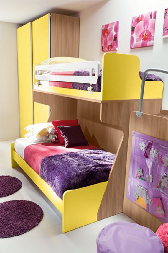 Vibrant and Lively Twin- Kids Bedroom Designs_19