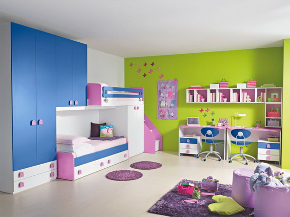 Vibrant and Lively Twin- Kids Bedroom Designs_20