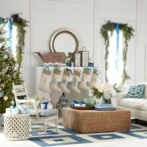 50 Magnificent Coastal-Themed Christmas Interior Decor_04