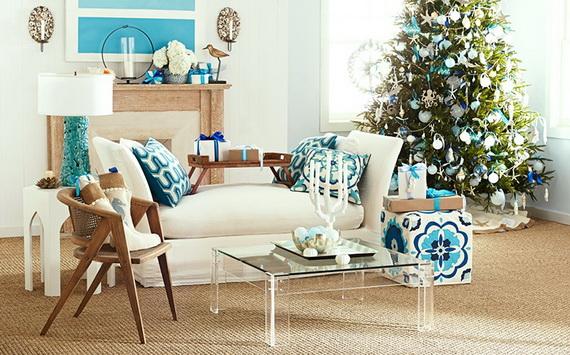 50 Magnificent Coastal-Themed Christmas Interior Decor_14