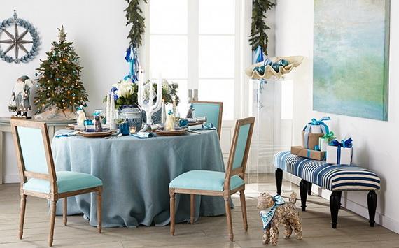 50 Magnificent Coastal-Themed Christmas Interior Decor_15