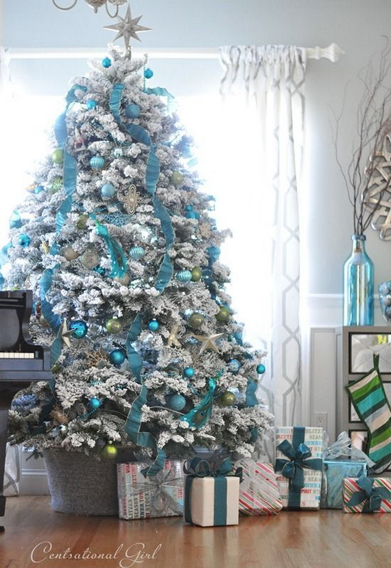 50 magnificent coastal themed christmas interior decor_29 - Coastal Themed Christmas Decorations