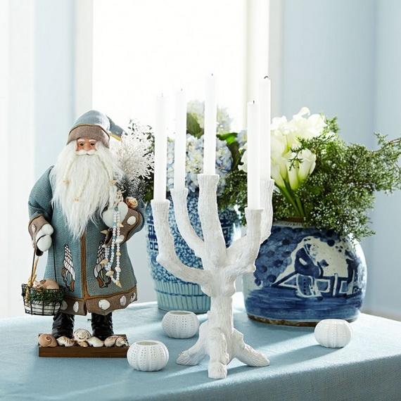 50 Magnificent Coastal-Themed Christmas Interior Decor_34