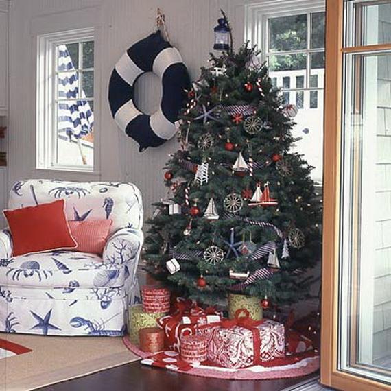 50 Magnificent Coastal-Themed Christmas Interior Decor_46