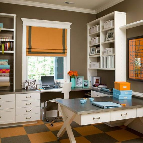 50 amazing and practical craft room design ideas and for Office craft room design ideas