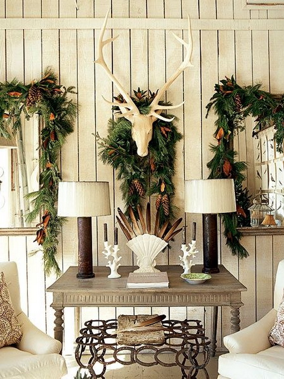 Elegant Christmas Country Living Room Decor Ideas_02