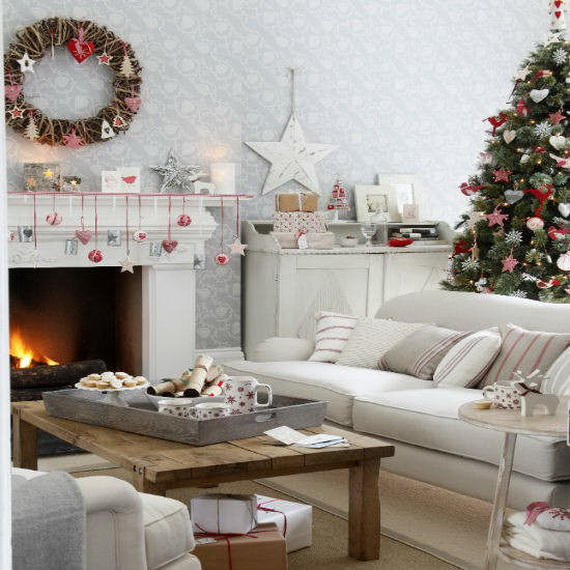 60 elegant christmas country living room decor ideas for Christmas living room ideas