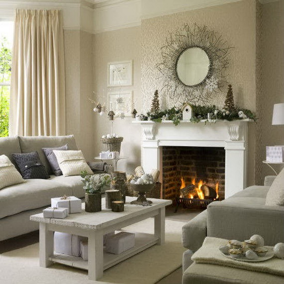 60 Elegant Christmas Country Living Room Decor Ideas Family