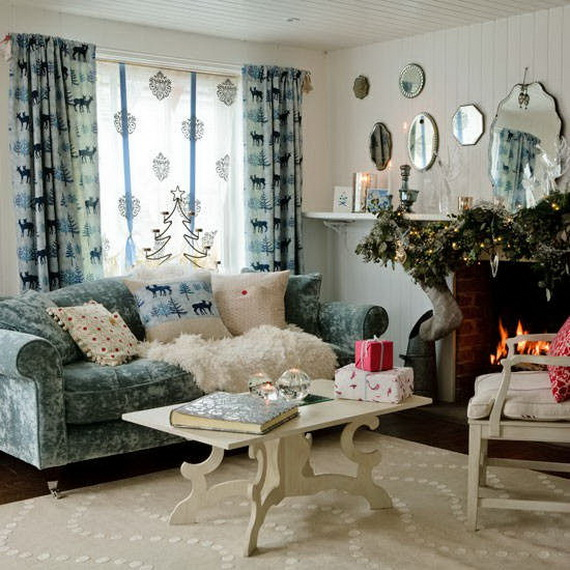 Country Home Design Ideas: 60 Elegant Christmas Country Living Room Decor Ideas