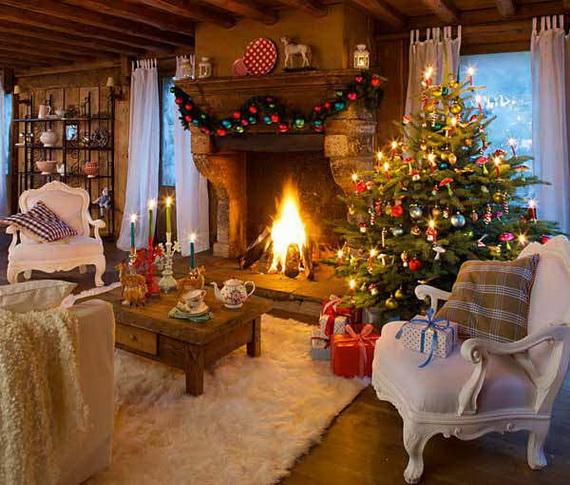 Elegant Christmas Country Living Room Decor Ideas_28