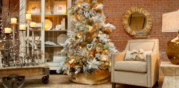 Elegant Christmas Country Living Room Decor Ideas_30