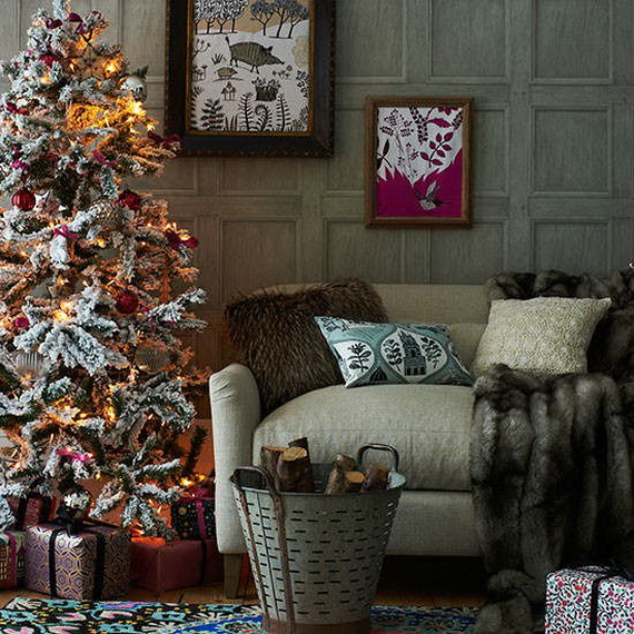 Elegant Christmas Country Living Room Decor Ideas 33