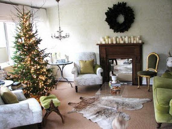 Elegant Christmas Country Living Room Decor Ideas_4