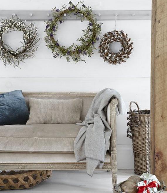 Elegant Christmas Country Living Room Decor Ideas_50